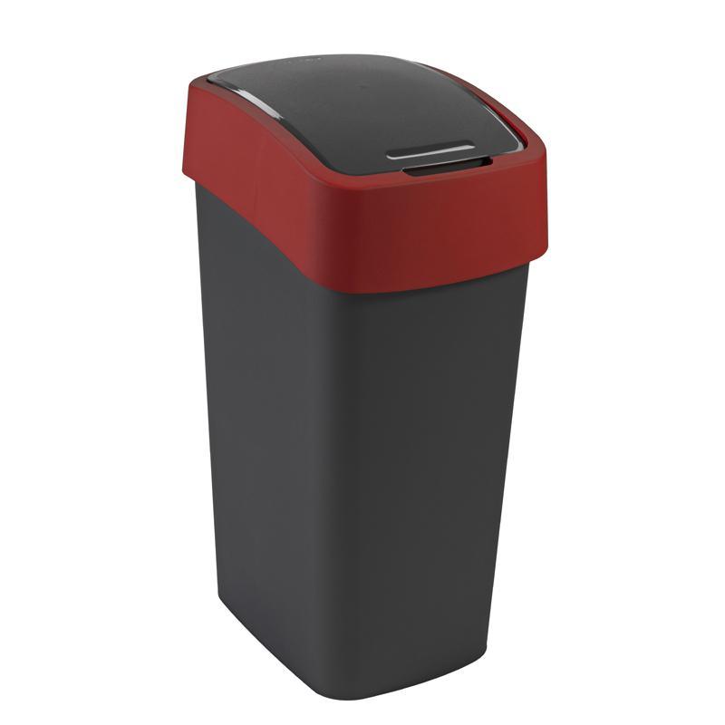Abfallbeh/älter Flip Bin 25 Liter silber//anthrazit