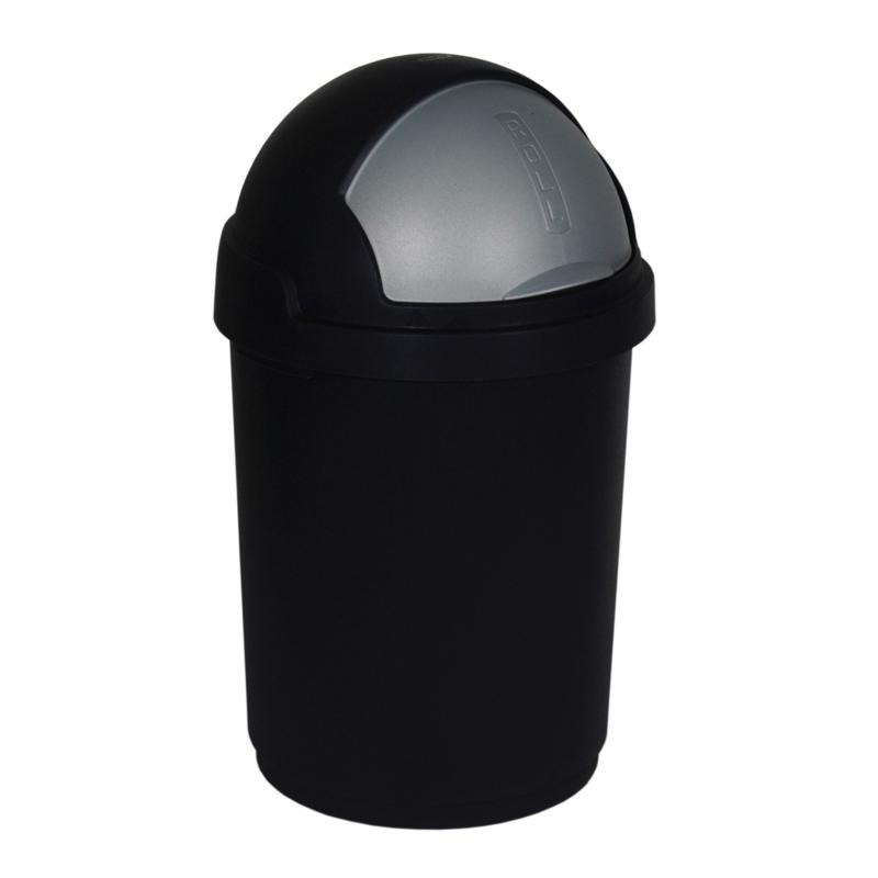curver abfallbeh lter roll top 25 l schwarz silber. Black Bedroom Furniture Sets. Home Design Ideas